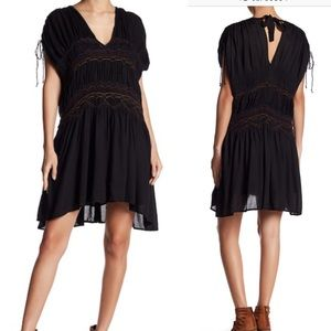 Free people short sleeve embroidered dress NWT
